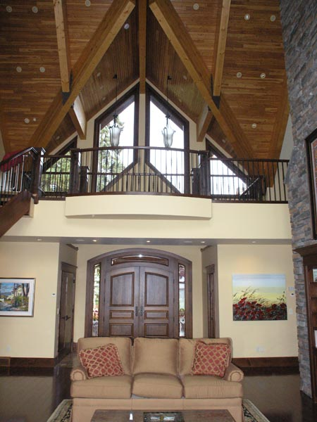 Welcoming Stone and Timber Lakefront Home